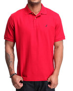 Men Solid Performance Polo Red Medium