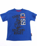 Boys Athletic Jersey Tee (4-7) Blue 4 (S)