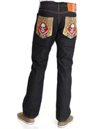 Men Sword And Skull Embellished Jeans Black 38X34