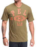 Men Victory S/S V-Neck Tee Olive X-Large