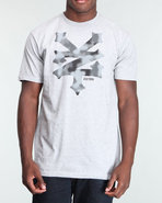 Men Cracker Camo Tee Grey Small