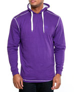 Men Solid Jersey Pullover Shirt Purple Xx-Large