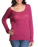 Women Knit Tops Red Small