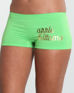Women Wild Side Logo Seamless Short Green Medium