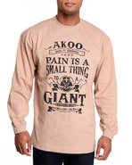 Akoo Men Small Thing To A Giant L/S Tee Tan 3X-Lar