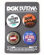 Dgk Men Dgk 4-Piece Button Set