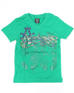 Boys S/S Braver Tee (4-7) Green 6