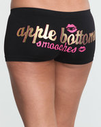 Women Smooches Ab Seamless Boyshort Black Medium