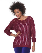 Djp Basics Women's Marbeled Open Stitch Sweater Ma