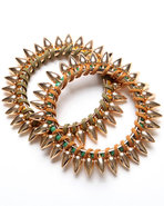 Women's Spike Bracelet Set Gold
