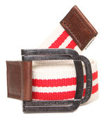 Men Battalion Belt W/ D-Ring Closure Cream Medium