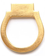 Women&#39;s Gold Brick Ring Gold 7