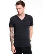 G-Star Men Knox V-Neck S/S Tee Black Large