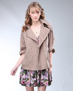 Djp Outlet Women's Oak Double Breasted Jacket Khak