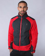 Men Nomadic Wolf Zip-Up Fleece Red X-Large