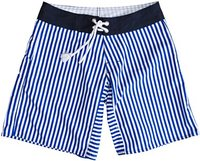 Wellen Stripe Trunk Boardshort Navy