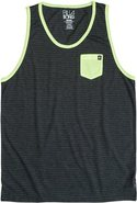 PIN RINGER TANK Large Heather Blue