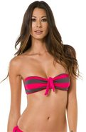 MARCEL STRIPE BANDEAU BIKINI TOP Small