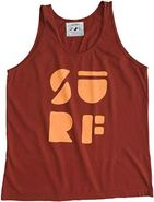 SURF TANK Large Burgundy Red