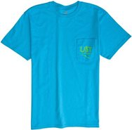 POCKET BOLTS SS TEE Medium Aqua Blue