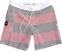 Civil Stripe 18In Boardshort Red