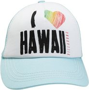 PITSTOP HAWAII TRUCKER HAT Aqua Blue