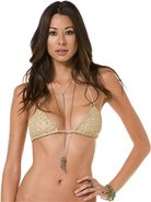 JIMI TRIANGLE HALTER TOP Medium Gold Yellow