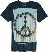 PEACE PALMS SS TEE X-Large Navy Blue