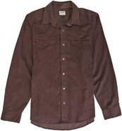STACKED LS SHIRT Large Mocha Brown