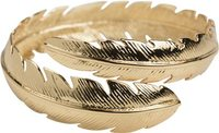 FEATHER BANGLE Gold Yellow