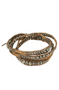 Wrap Bracelet in Pyrite/Kansa
