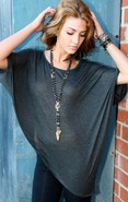 Phoenix Cape Tee in Dark Grey