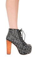 Jeffrey Campbell Lita with Studs in Black/Silver