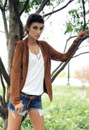 Slice Blazer in Tan