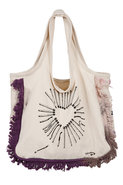 Free Love Fringe Tote in Natural/Meadow