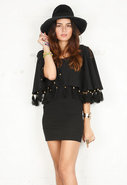 Pedro Capelet Dress in Black