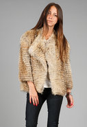 Coyote Fur Shrug in Natural
