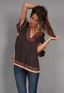 Habotai Ethnic Embroidered Shirt in 2 colors