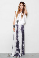 O So Easy Skirt in Dark Grey Tie Dye