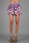 Pleated Shorts in Purple Wave