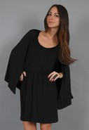 Cape Dress in Jet