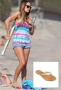 Highlighter Metallic Leather Sandals in Many Color