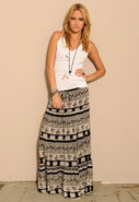 Cantina Diva Skirt in Black/White