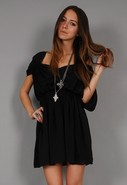 Deep V Dolman Dress in 2 Colors