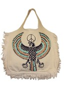 Eagle Fringe Tote Bag in Natural
