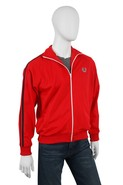 Twin Taped Track Jacket in Red with Navy