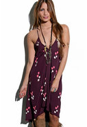 Assymetrical Pharoah Dress in Modern Navojo Plum
