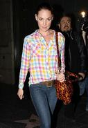 Kendra Original Plaid Button Down in Rainbow