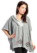Connect Poncho in Heather Grey
