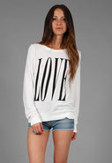 Big Love Baggy Beach Jumper in Clean White